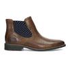 Pánska kožená obuv v štýle Chelsea bata, hnedá, 826-3865 - 19