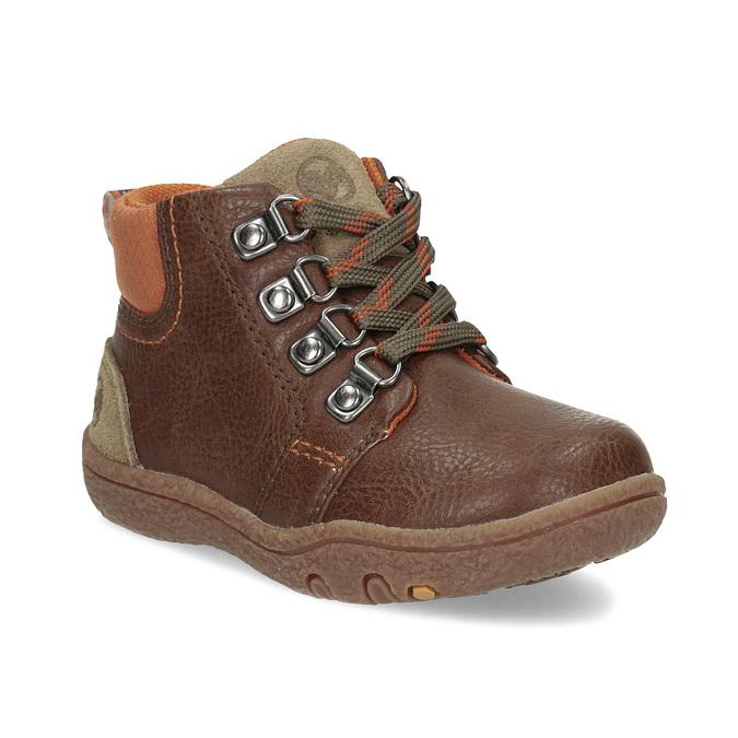 Chlapčenská členková hnedá obuv bubblegummers, hnedá, 111-4629 - 13