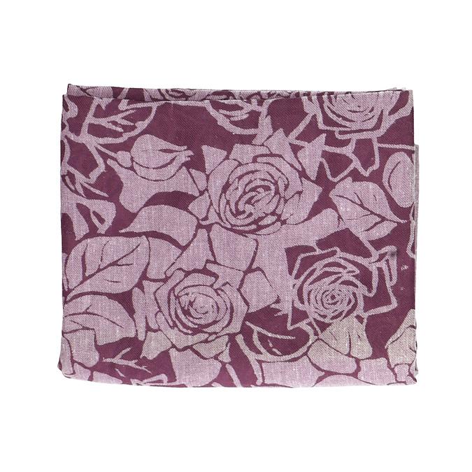 Vínová šatka so vzorom ruží bata, ružová, 909-9701 - 13
