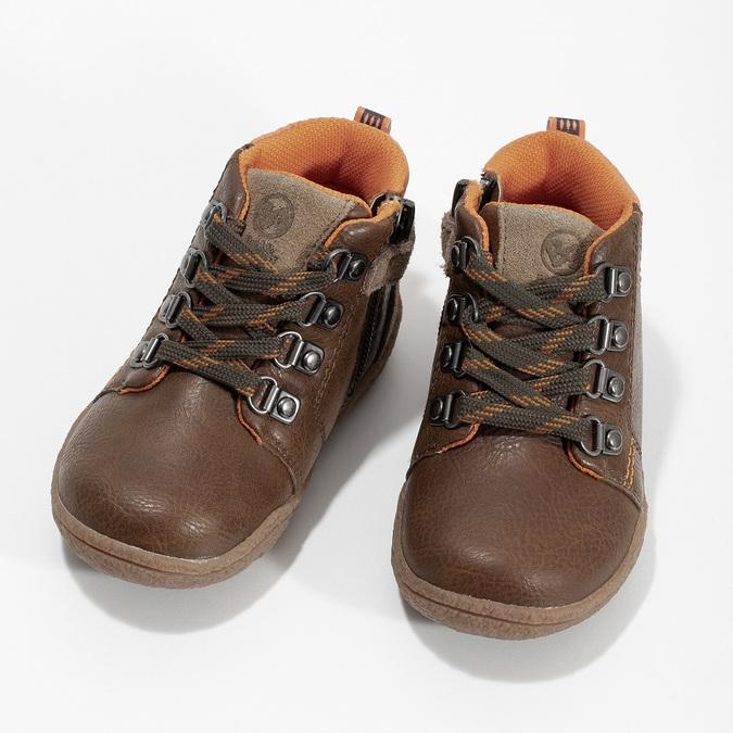 Chlapčenská členková hnedá obuv bubblegummers, hnedá, 111-4629 - 16