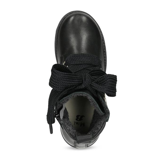 Kožená členková detská obuv mini-b, čierna, 424-6600 - 17