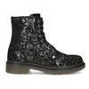 Detská kožená členková obuv so vzorom mini-b, čierna, 426-2560 - 19