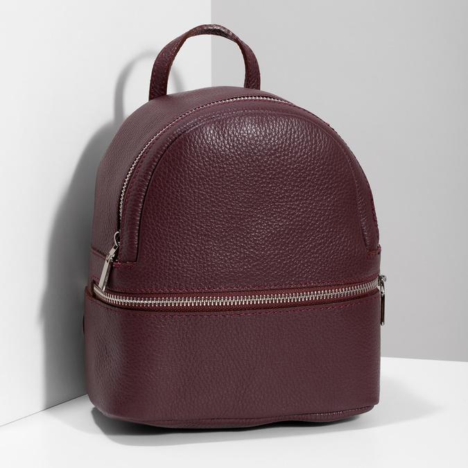 Kožený vínový mestský batôžtek bata, červená, 964-5301 - 17