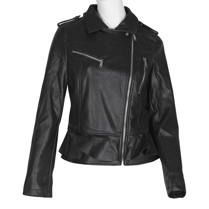 Dámska bunda s volánom bata, čierna, 971-6213 - 13