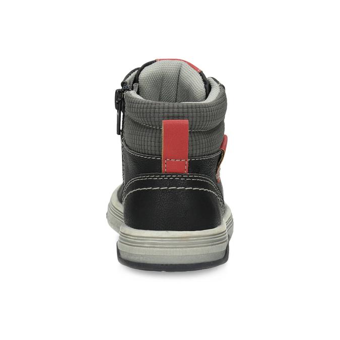 Členkové detské tenisky s červenými detailmi mini-b, čierna, 211-6626 - 15