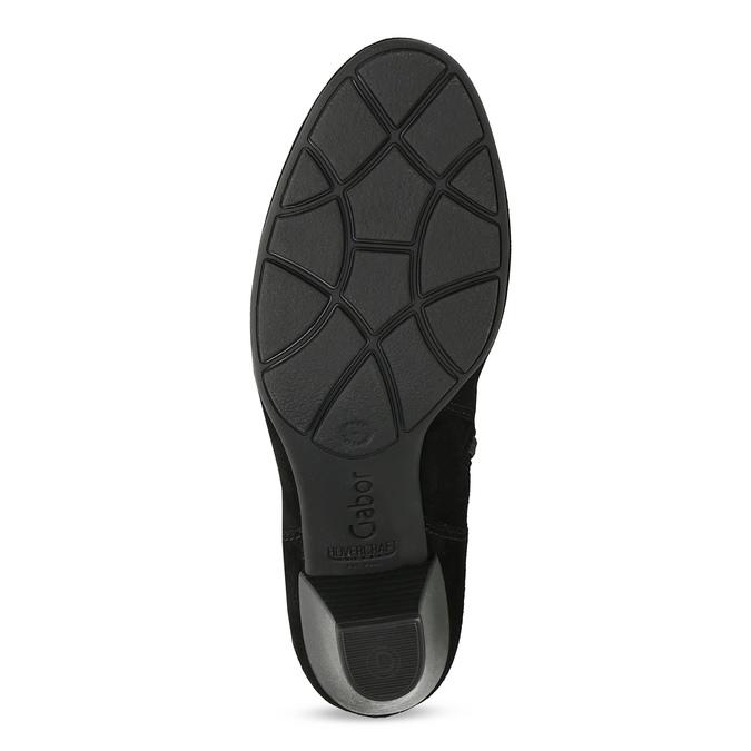 Dámske zimné čižmy na podpätku gabor, čierna, 723-6009 - 18