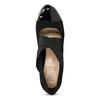 Čierne lodičky s lakovanou špicou insolia, čierna, 729-6625 - 17