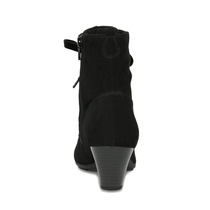 Dámske zimné čižmy na podpätku gabor, čierna, 723-6009 - 15