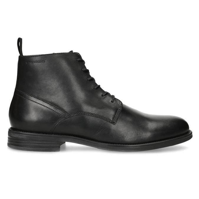 Pánska čierna kožená členková obuv vagabond, čierna, 824-6238 - 19