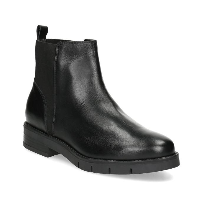 Kožené dámske čierne Chelsea flexible, čierna, 594-6667 - 13