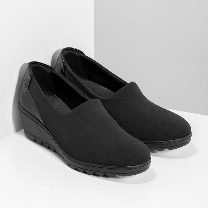 Čierna dámska obuv na kline comfit, čierna, 619-6600 - 26