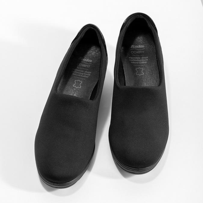 Čierna dámska obuv na kline comfit, čierna, 619-6600 - 16