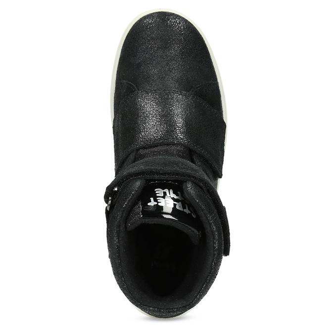 Kožené čierne detské členkové tenisky mini-b, čierna, 323-6603 - 17
