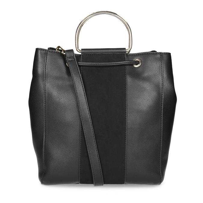 Čierna dámska Bucket kabelka bata, čierna, 961-6890 - 16
