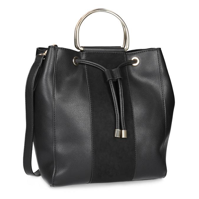 Čierna dámska Bucket kabelka bata, čierna, 961-6890 - 13