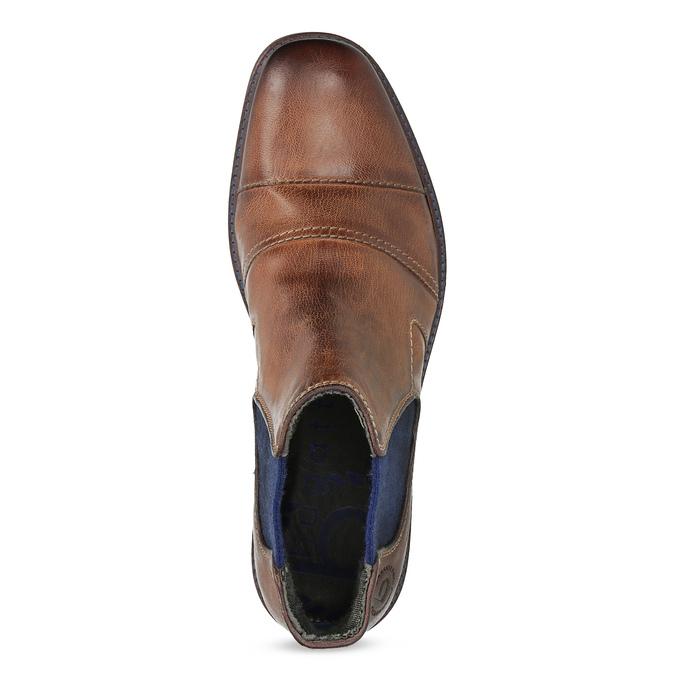 Kožená hnedá členková obuv bugatti, hnedá, 816-4065 - 17
