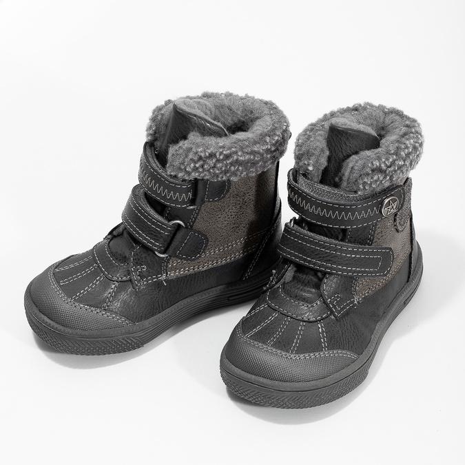 Detská zimná obuv so zateplením bubblegummers, šedá, 191-4619 - 16