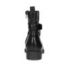 Čierna kožená členková obuv s kovovými cvočkami bata, čierna, 594-6671 - 15