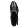 Čierna kožená členková obuv s kovovými cvočkami bata, čierna, 594-6671 - 17