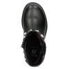 Dievčenské zateplené čižmy s perličkami mini-b, čierna, 291-6111 - 17