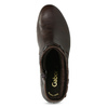 Hnedá kožená obuv s prešitím gabor, hnedá, 616-4123 - 17