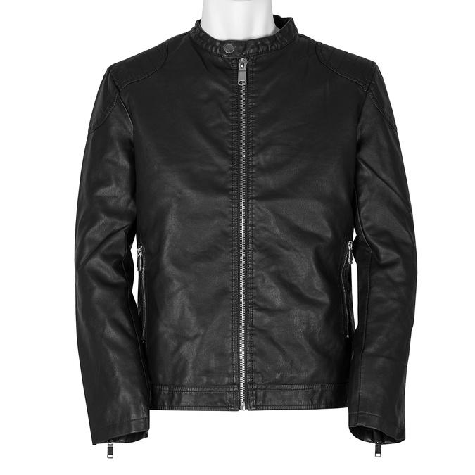 Pánska čierna jarná bunda bata, čierna, 971-6221 - 13