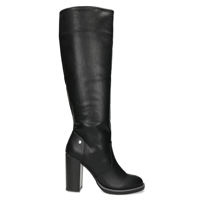 Čierne dámske čižmy na stabilnom podpätku insolia, čierna, 791-6617 - 19