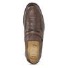 Kožené hnedé Penny Loafers mokasíny comfit, hnedá, 814-3627 - 17
