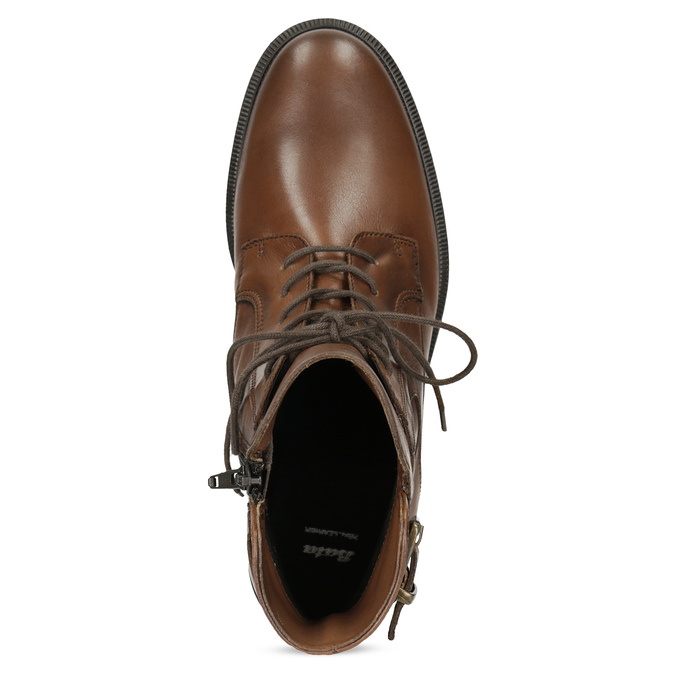 Dámske hnedé kožené čižmy bata, hnedá, 594-4674 - 17