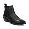 Dámska kožená členková obuv s pružením bata, čierna, 596-6969 - 13