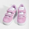 Ružové kožené detské tenisky adidas, ružová, 103-5203 - 16