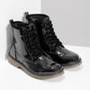 Dievčenská čierna lesklá členková obuv mini-b, čierna, 391-6259 - 26