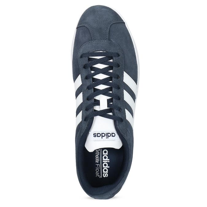 Pánske tenisky z brúsenej kože adidas, modrá, 803-9379 - 17