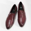 Dámske vínové kožené mokasíny bata, červená, 514-5601 - 16
