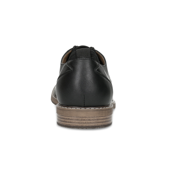 Čierne pánske poltopánky bata-red-label, čierna, 821-9609 - 15