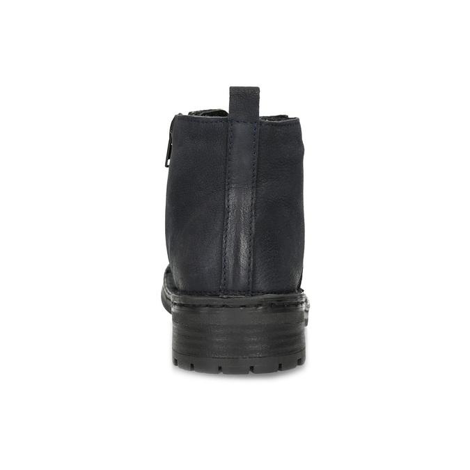 Kožená dámska členková obuv bata, modrá, 596-9709 - 15