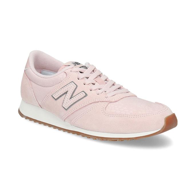 Ružové dámske tenisky z brúsenej kože new-balance, ružová, 503-5172 - 13