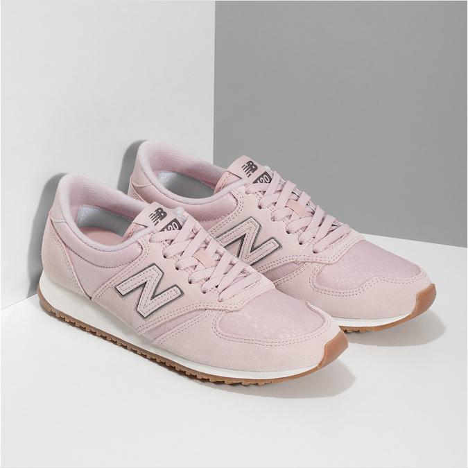 Ružové dámske tenisky z brúsenej kože new-balance, ružová, 503-5172 - 26