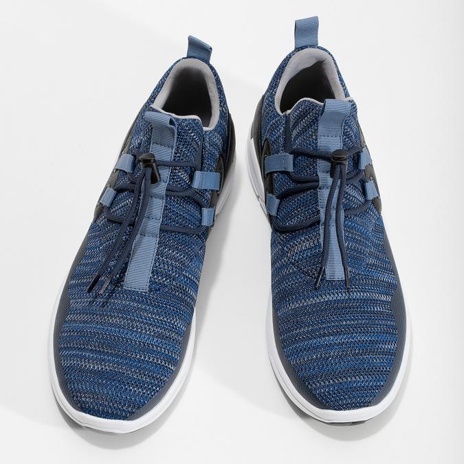 Slip-on modré tenisky bata-red-label, modrá, 841-9620 - 16