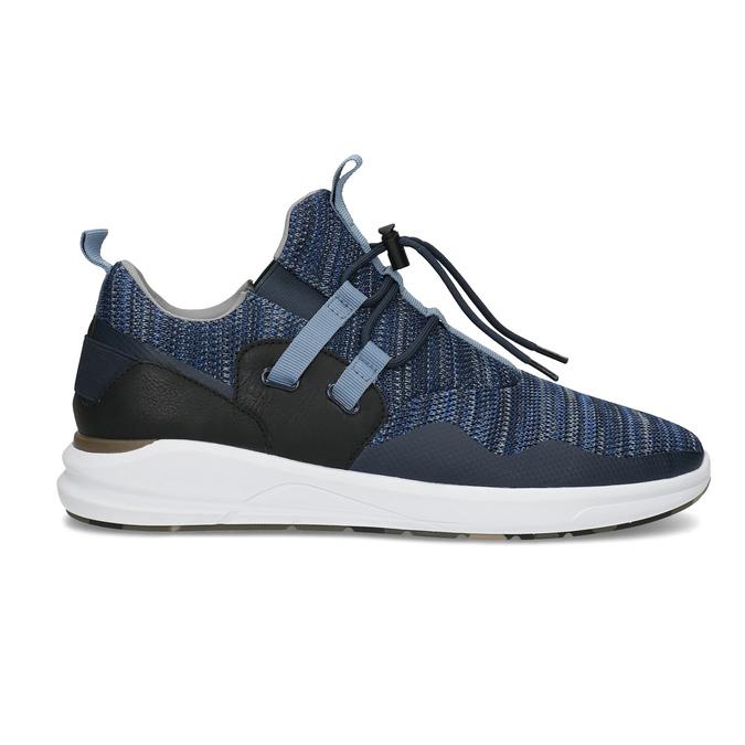 Slip-on modré tenisky bata-red-label, modrá, 841-9620 - 19