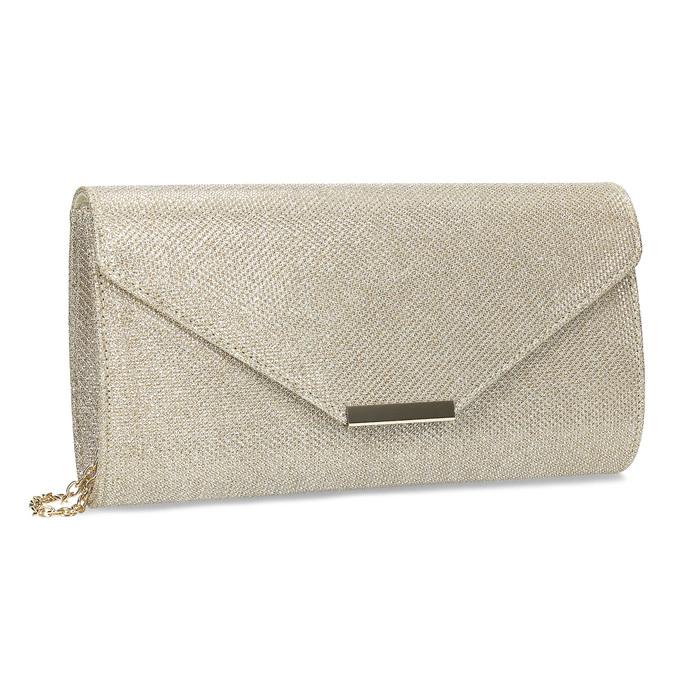 Zlatá dámska listová kabelka bata, zlatá, 969-8701 - 13