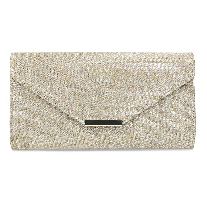 Zlatá dámska listová kabelka bata, zlatá, 969-8701 - 26