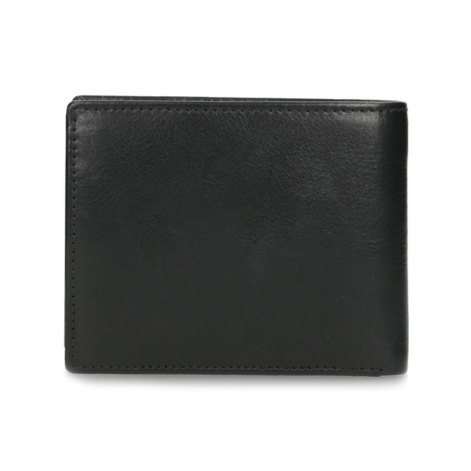 Čierno-modrá kožená peňaženka bata, čierna, 944-6224 - 16