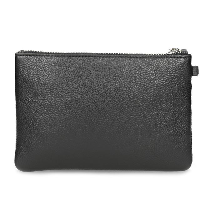 Kožené vrecko s kožušinkou bata, čierna, 944-6227 - 16