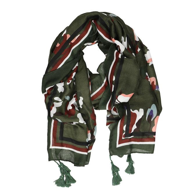 Dámska šatka so vzorom a strapcami bata, viacfarebné, 909-0711 - 26