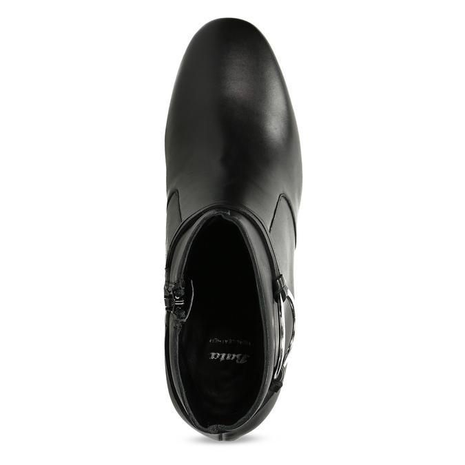 Kožená dámska členková obuv bata, čierna, 694-6665 - 17