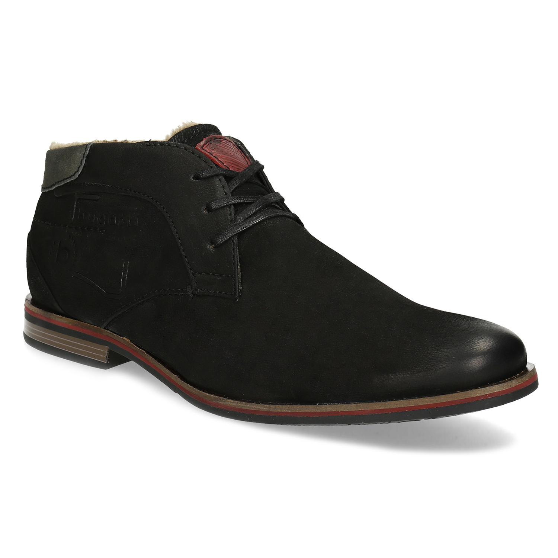 Bugatti Zimná pánska kožená obuv čierna - Muži  c8f7fffe0f