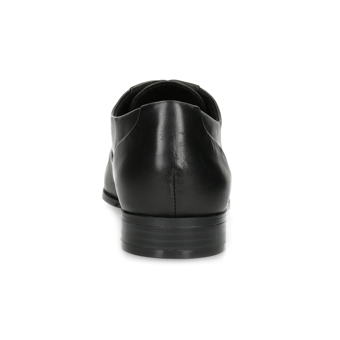 Dámske kožené čierne Oxfordky bata, čierna, 524-6668 - 15