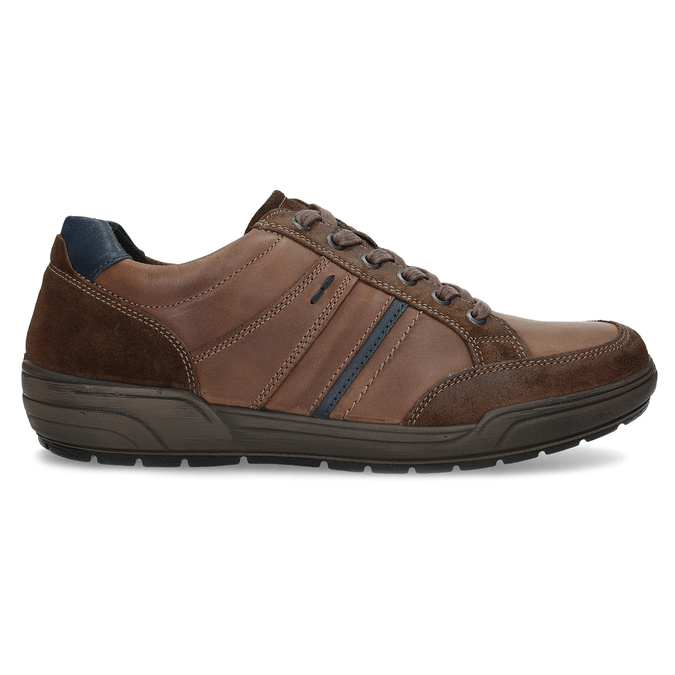 Kožené pánske hnedé tenisky bata, hnedá, 846-4714 - 19