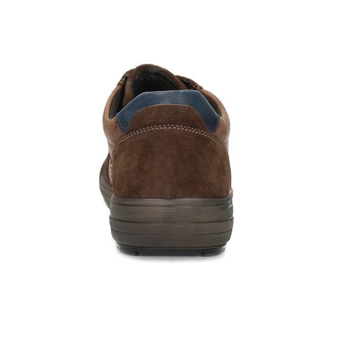 Kožené pánske hnedé tenisky bata, hnedá, 846-4714 - 15